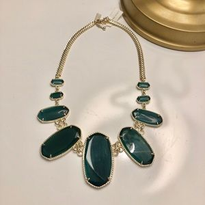 NWT Green Kendra Scott Ginger Necklace